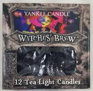 Yankee Candle WITCHES BREW Box of 12 Scented Tealights Tea Light Black Pink
