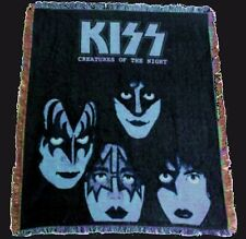 KISS: CREATURES OF THE NIGHT Woven Throw Rug Tapestry Blanket Wall Hangings NEW