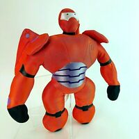 Disney Store Stamped Rare Battle mode Baymax In Red Armour Plush Soft Toy 16""