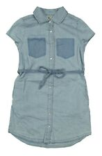 CALVIN KLEIN JEANS NEW KIDS GIRLS SHORT SLEEVE FRONT CLOSURE DENIM DRESS S (7)