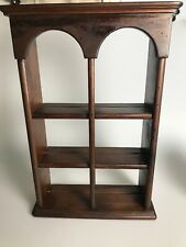 Ethan Allen Shelf Curio Hutch Wall Mount With Plate Holder