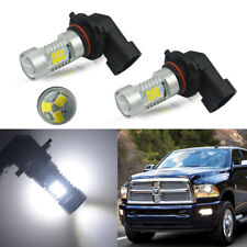 2x High Power White LED Fog Light Blubs For 2009-2018 DODGE RAM 1500 2500 3500