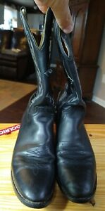 Justin Youth Cowboy Western Boots Style # 6001Y. Black Leather Upper 6 D