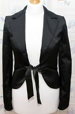 Black Cocktail Satin Blazer Jacket Size 34