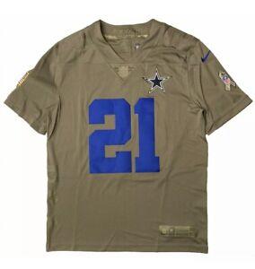 Nike NFL Ezekiel Elliott Dallas Cowboys 2017 Salute To Service Jersey Mens Large
