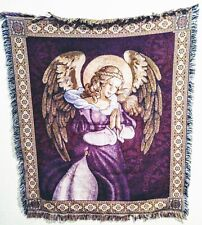 Vintage Mohawk Rug & Textiles Beautiful Praying Angel 4ft Rug Textile Rare