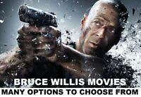 Bruce Willis Movies - Many options to choose from - DVD or Bluray - w/ Free Ship