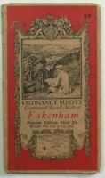 1921 Old Vintage OS Ordnance Survey One-Inch Popular Edition Map 57 Fakenham