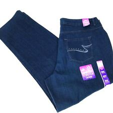 JMS Just My Size Womens 20W Average Classic Jeans Straight Leg Blue Studded NWT