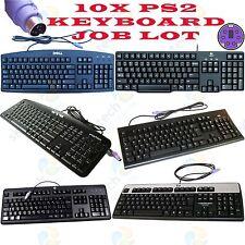 Job Lot 10x Dell HP Lenovo Logitech Casio Microsoft Mix Brand Cheap PS2 Keyboard