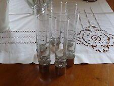 Lotto 6 Bicchieri da Liquore o Cocktail (Collins) e Fondo in Argento 800 VINTAGE