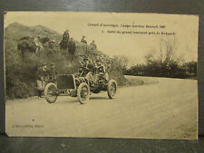 cpa 63 automobile circuit auvergne coupe gordon bennett 1905 tournant baraque