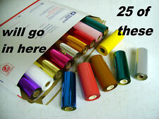 Hot Stamp Stamping Machine Foil Kingsley - 25 Roll PK - 70 Colors - Ships Free