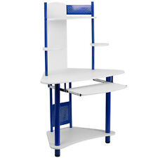 Flash Furniture Blue Corner Computer Desk w/Hutch [] NAN-JN-2705-BL-GG NEW
