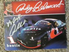 RARE ANDY BELMONT AUTO SIGNED 8 x 10 PHOTO CARD NHRA RACING SUPER SALE