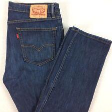 LEVI's 505 00505-1614 Jeans Mens 34x32 Dark Wash Regular Fit Straight Leg