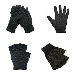 Mens Womens Gripper Gloves Full Half Finger Fingerless Non Slip Plam Work Safety