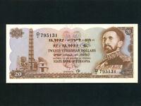 Ethiopia:P-21a,20 Dollars * Haile Selassie * 1961 * UNC *