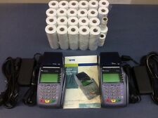 Ships Fast! 2 Used Credit Card VeriFone Vx510Le + 45 Rolls Thermal Paper 2 1/4""