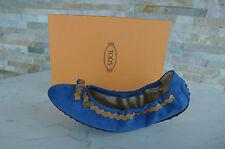 Tods Muerte´s Gr 38 Bailarinas Mocasines Zapatos azul marrón nuevo
