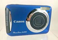 Canon PowerShot A495 10.0MP Digital Camera - Blue *Tested & Works* Fast Ship! CC