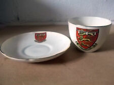 Unboxed Goss Crested China Cups & Saucers