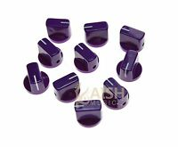 10x Guitar AMP Effect Pedal Knobs Davies 1510 Style Pointer Knob Purple