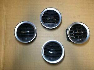 VAUXHALL OPEL CORSA D GENUINE SET OF 4 AIR VENTS HEATER SILVER SURROUND #H
