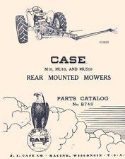 Case M10 Mu10 Mus10 Mower Parts Manual 311 310 400 410 401 411 Sc Dc Vac Tractor