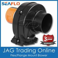 "SEAFLO 130 CFM BLACK FLEX/FLANGE MOUNT BILGE AIR BLOWER 3"" HOSE Boat/Caravan 12V"