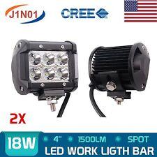 2x 4in 18W CREE LED LIGHT BAR WORK SPOT LAMP OFFROAD BOAT UTE CAR TRUCK SUV ATV
