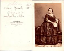 Disdéri, Paris, Opéra, La cantatrice contralto Marietta Alboni Vintage CDV album