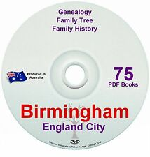 Family History Tree Genealogy Birmingham England Britain 75 historic books
