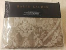 Ralph Lauren Sonoma Valley Full Queen Duvet Cover COTTON LINEN Natural DAMASK