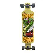 "Jim Phillips Art Santa Cruz Skate Cobra 40"" Drop Down Longboard w/ Defects"