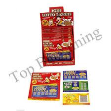 3 Tarjeta Truco de lotería falsos ganar Scratch Lotto Toy Broma Divertida Fiesta Broma entradas