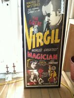 ORIGINAL VIRGIL WORLDS GREATEST MAGICIAN POSTER