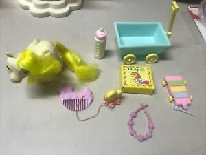 MY LITTLE PONY G1 VINTAGE BEDDY BYE EYES BBE BABY LOFTY + ACCESSORIES