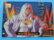 TRADING CARD,   MARVEL MASTER-PIECES 1994 WHITE QUEEN .