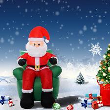 LED Weihnachtsmann aufblasbar Weihnachtsdeko Beleuchtet Ladendeko 180cm