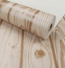 """32.8'x 20.8"""" Roll - 3D Wooden Texture Vinyl Wallpaper - 57 sqft"""