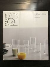 Project 62 - 12 Piece Tumbler Set, drinkware set - Clear Glass Cups- Brand new