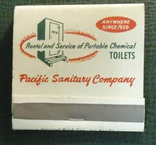 Matchbook - Pacific Sanitary Co Portable Toilets San Francisco CA 30 Strike FULL