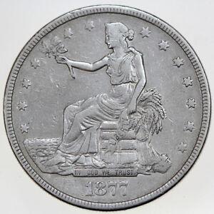 1877 $1 TRADE SILVER DOLLAR