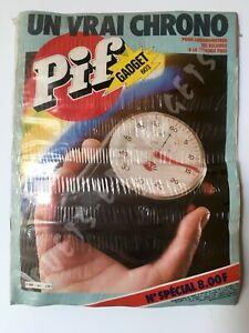 Pif gadget NEUF film rétractable origine blister n°603 un vrai chronomètre 1980