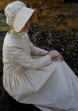 Ladies Prairie Pioneer Costume Dress & bonnet set tan calico size 6