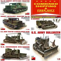 WW II MILITARY TRACTORS AND BULLDOZERS MINIART 1/35 WW II MILITARY MINIATURES