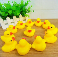20Pcs Set Rubber Duck Ducky Baby Kids Shower Floating Call Vocal Toys Gift