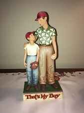 """Jim Shore, """"Father and Son"""" That's My Boy"""" Figurine 9.5 """""""