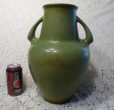 "ROOKWOOD Pottery 399B c.1923 MATTE GREEN 13.5"" Large Double Handled FLOOR VASE"